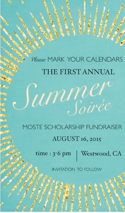 Moste Announces Summer Soiree Scholarship Fundraiser  Moste